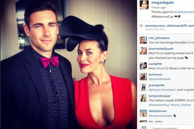 Megan Gale and her footy beau Shaun Hampson are one smokin' hot couple.<br/>