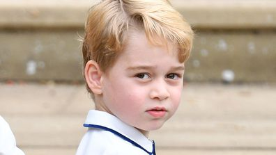 Rarely seen photo of Prince George and Prince Charles