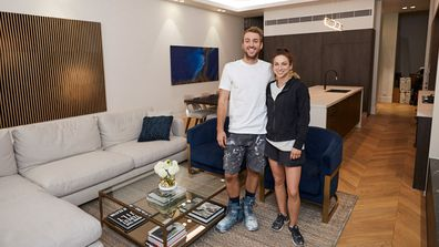 Jesse and Mel living and dining room The Block 2019