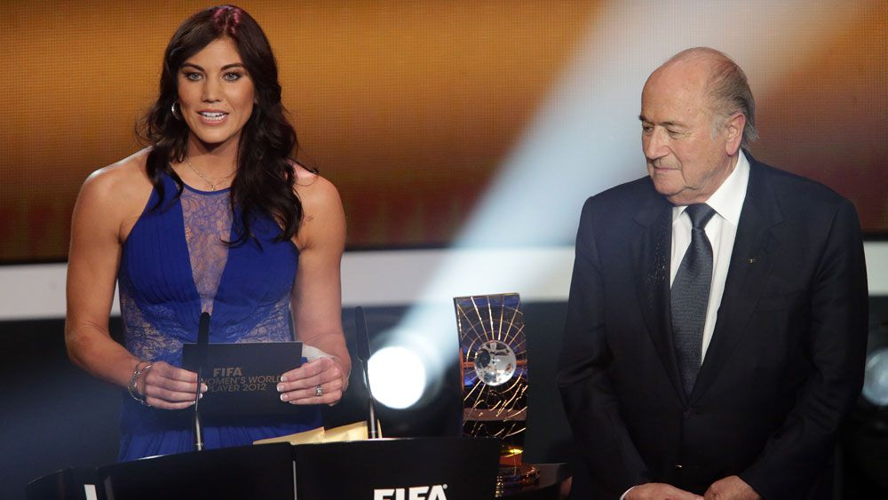 Sepp Blatter denies sexual harrassment claim from former US women's goalkeeper Hope Solo