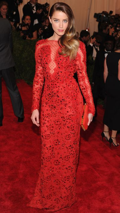 <p>Heard wore Emilio Pucci to the 2013 Met Gala.</p>