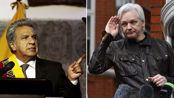 Ecuador's new president Lenin Moreno says Julian Assange can stay at the country's London embassy. (AAP)
