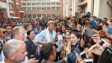 Prince Harry has extended his five-day tour to help rebuild a school. (Getty Images/ Adam Gerrard)