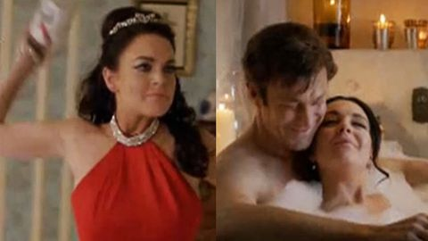 'You're screwing that witch!' Lindsay Lohan is furious and frisky in Liz Taylor biopic trailer