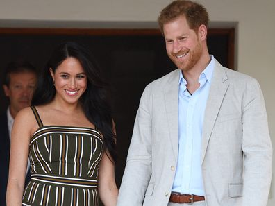 Prince Harry and Meghan Markle during 2019 southern Africa tour
