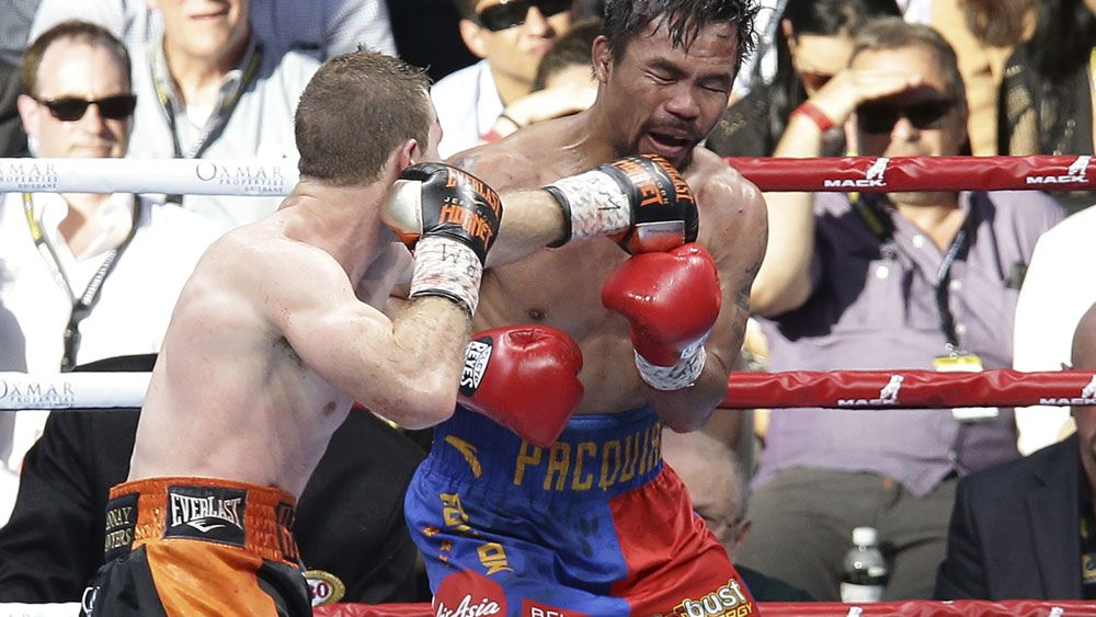 Manny Pacquiao's camp were far from happy with the scoring in the loss to Jeff Horn. (AAP)