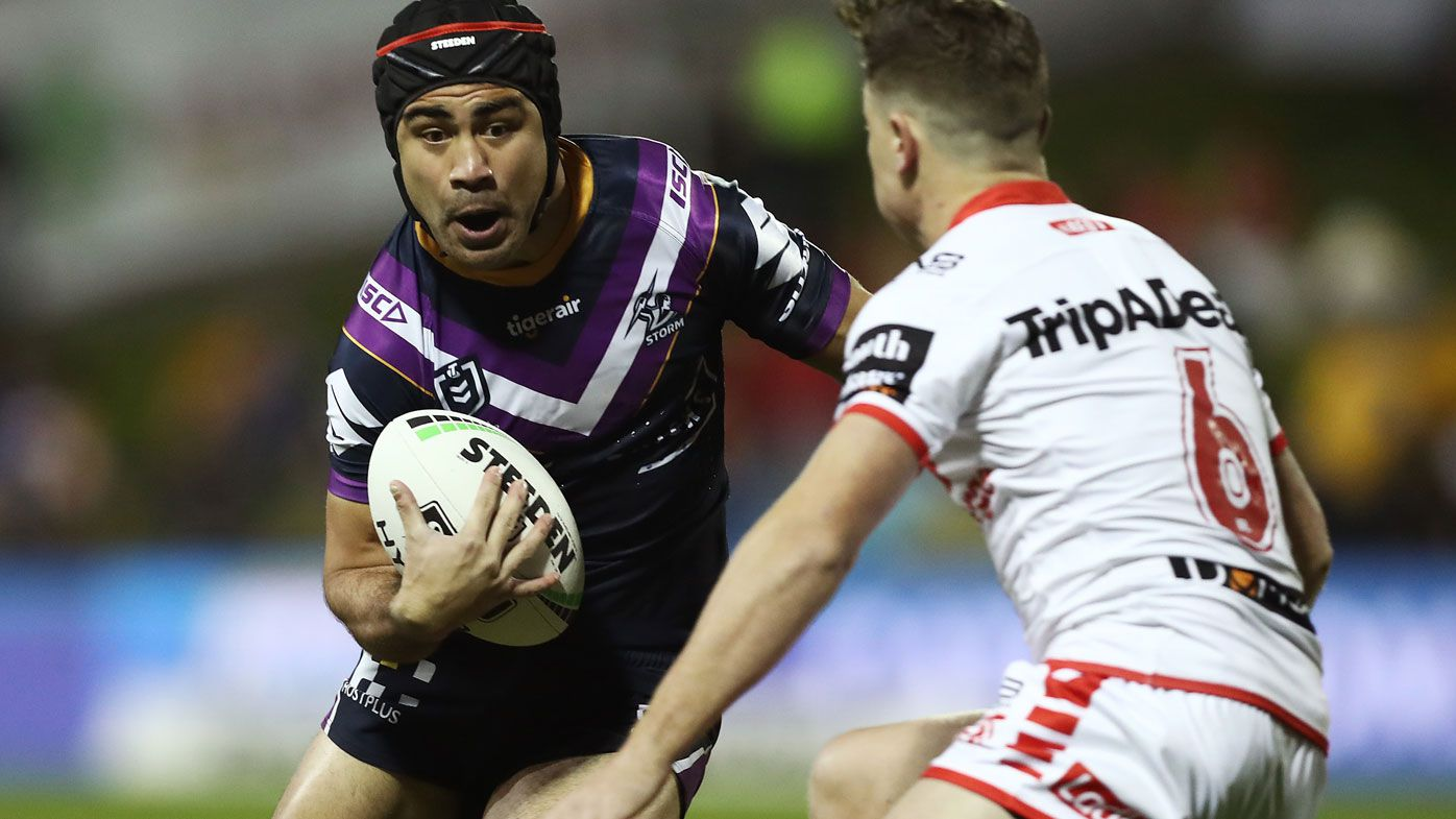 NRL: Melbourne Storm beat Dragons to the post in rain soaked affair