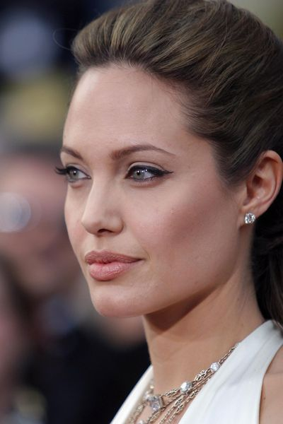 Lashes for days on Angelina Jolie in 2004.