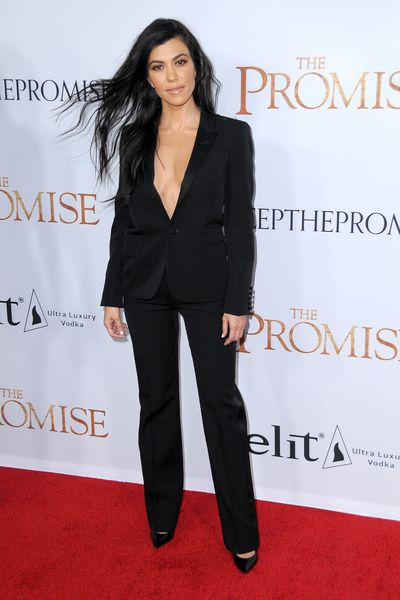 Kourtney Kardashian at the premiere of <em>The Promise</em> in Hollywood, April, 2017