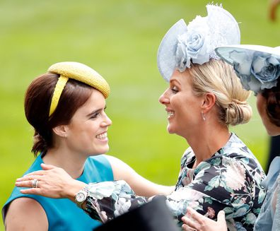 Eugenie and cousin Zara Tindall at Royal Ascot in June.