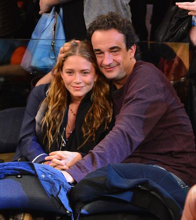 Mary-Kate Olsen, Olivier Sarkozy, New York Knicks game, Madison Square Garden, 2012