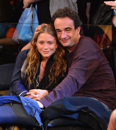 Mary-Kate Olsen, Olivier Sarkozy, New York Knicks game, Madison Square Garden, 2012