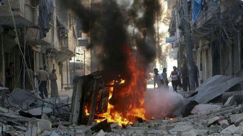Syrian soldiers retake Aleppo district as bombs rain down