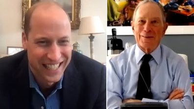 Prince William (left), Michael Bloomberg (right)