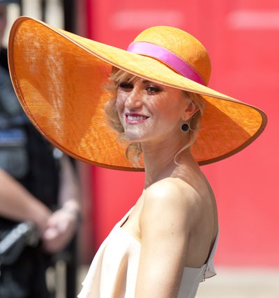 Katherine Kelly Arrives At The Wedding Of Zara Phillips And Mike Tindall in 2011