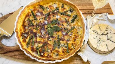 "Recipe:<a href=""http://kitchen.nine.com.au/2017/08/18/10/43/pumpkin-tart-with-gorgonzola"" target=""_top"">Pumpkin tart with Gorgonzola</a>"