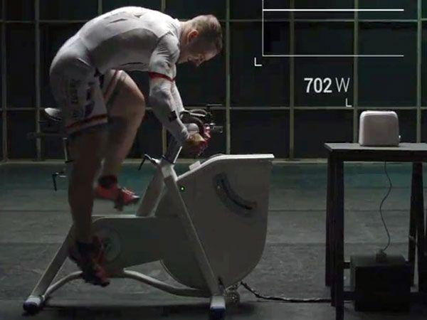 Olympic cyclist produces leg-powered toast