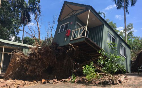 Cyclone Marcus brought down branches and whole trees. (9NEWS)
