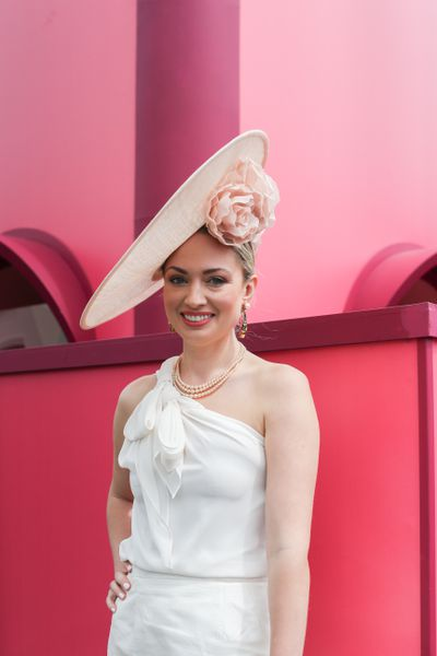 Amelia Barry on Stakes Day and Flemington Racecourse.