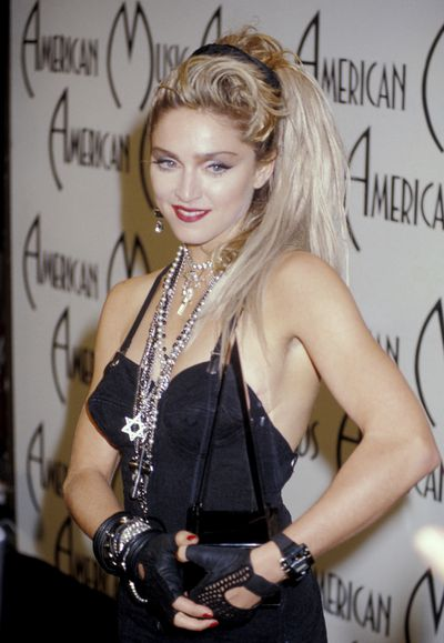 Madonna at the 12th Annual American Music Awards in 1985