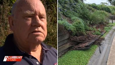 Elderly man fired up over nightmare retaining wall battle with council.