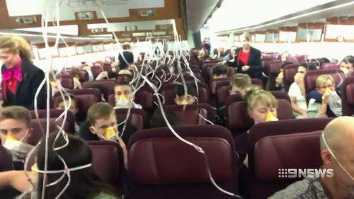Oxygen masks were deployed. (9NEWS)