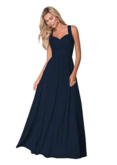 The bridesmaid's dress chosen for the event.