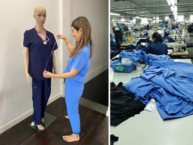 Melbourne sisters create 'Godsend' scrubs for frontliners during coronavirus