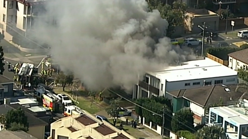 An elderly man has died in hospital after a dramatic fire rescue from his Dover Heights home.