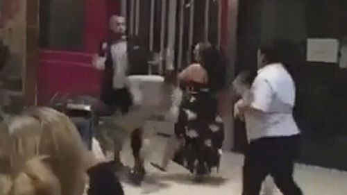 Witnesses filmed the scuffle.
