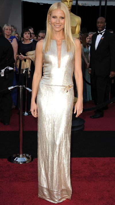 At the 2011 Oscars in Calvin Klein Collection.
