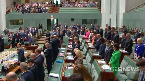 A one minute's silence in Parliament House today as a mark of respect for Hughes. (9NEWS)