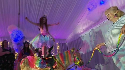 Abi at Unicorn Land. (9NEWS)