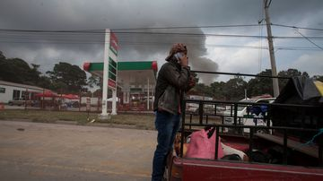 Thousands are fleeing as Guatemala's Volcano of Fire erupts again. (AP)