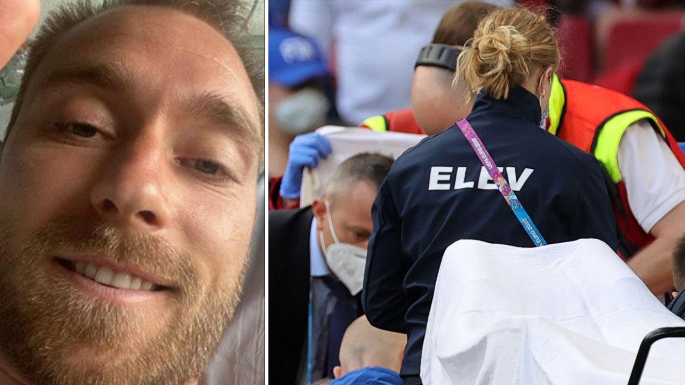 Christian Eriksen sends heartwarming message from hospital after suffering on-field cardiac arrest