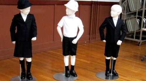 Taimei Elementary School in Tokyo is introducing Armani school uniforms. (AAP)