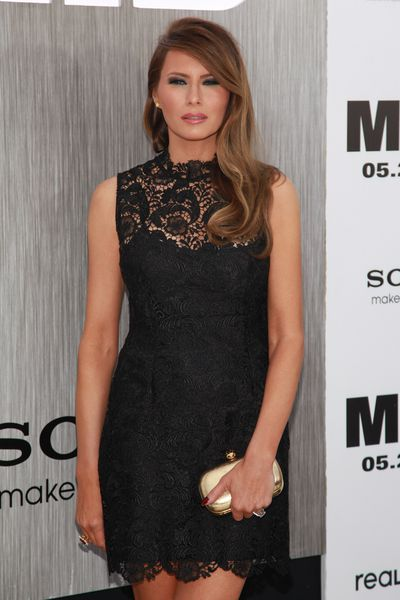Melania Trump attends the 'Men In Black 3' New York premiere at the Ziegfeld Theatre on May 23, 2012