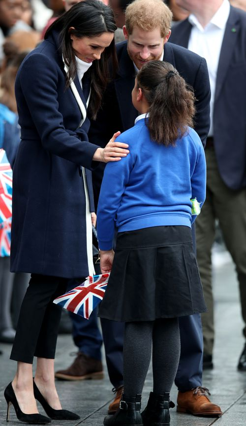 Meghan told Sophia she would like to see her on TV when she becomes an actress. (PA/AAP)