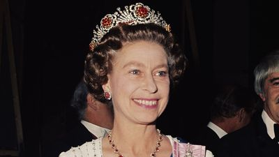 Queen Elizabeth wearing a tiara
