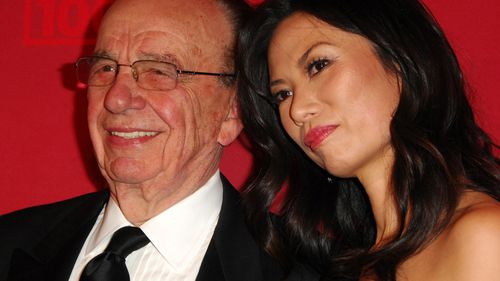 Media mogul Rupert Murdoch and his ex-wife Wendy Deng.