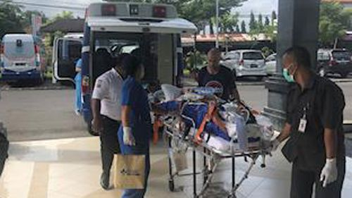Abby Hartley had been in a Bali hospital for over a month after falling ill on holiday.