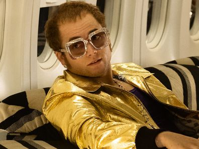 Taron Egerton and Steven Mackintosh in Rocketman