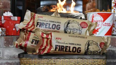 KFC launches fried chicken firewood
