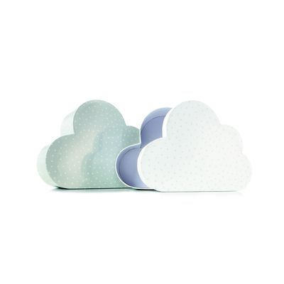 Cute, stackable cloud cartons for your stuff.