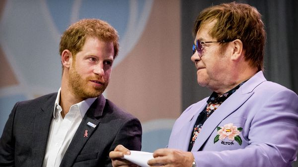 Prince Harry and Elton John join forces at AIDS conference in Amsterdam