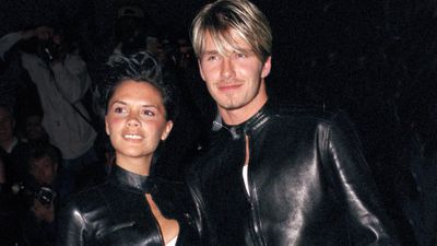 David and Victoria Beckham: Then…
