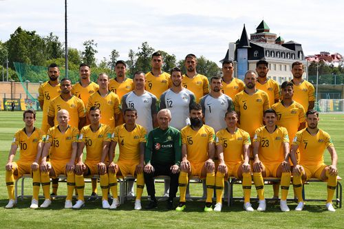 The Socceroos will play France, Denmark and Peru in their group stage World Cup matches. (AAP)
