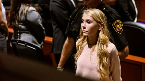 "Brooke ""Skylar"" Richardson is escorted out of the courtroom after the verdict in her trial"