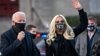 Joe Biden and Lady Gaga.