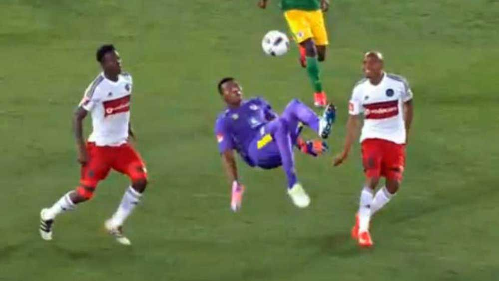 Football: Keeper pulls off spectacular equaliser with bicycle kick